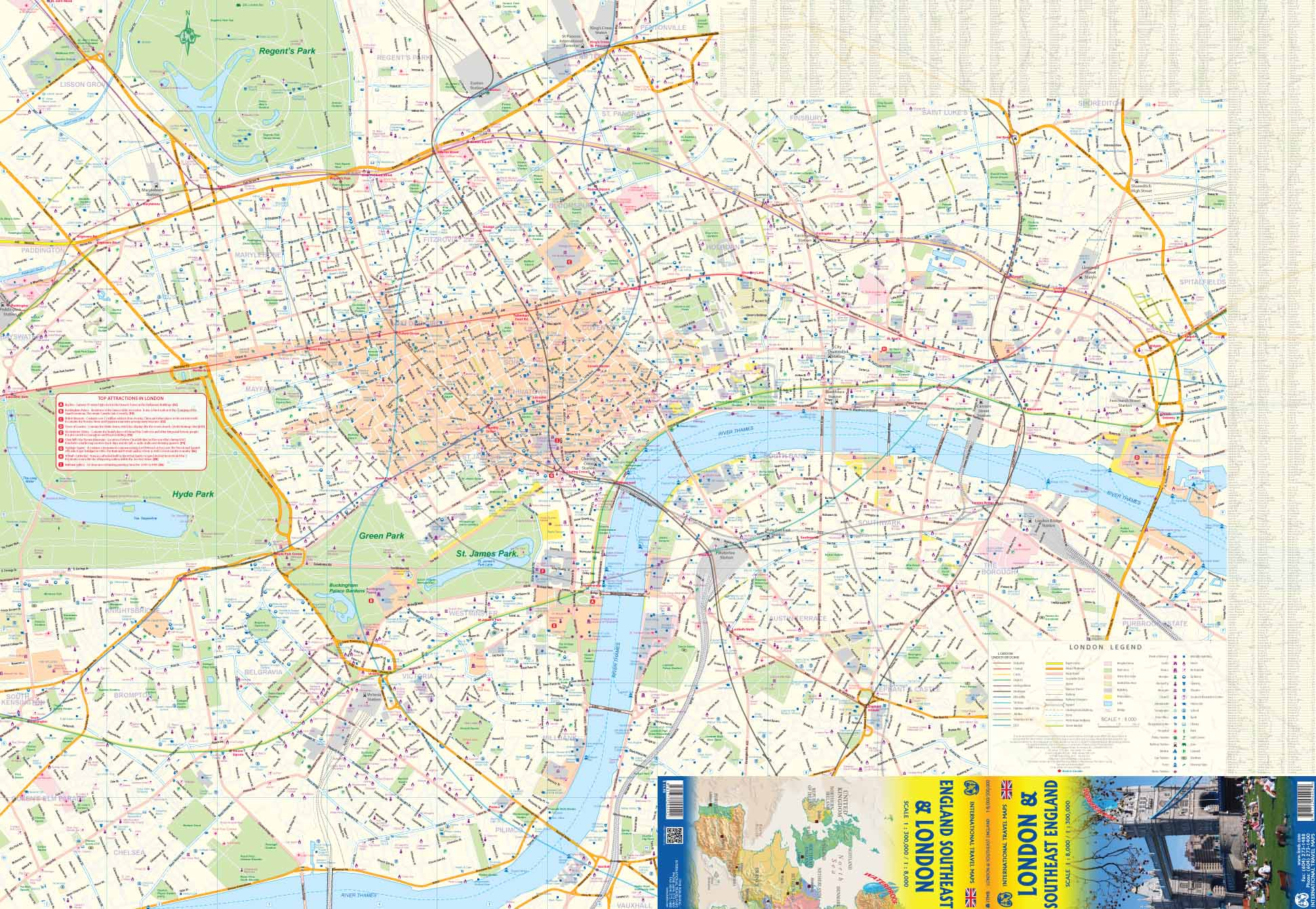 London England City Map.London City South East England Travel Map